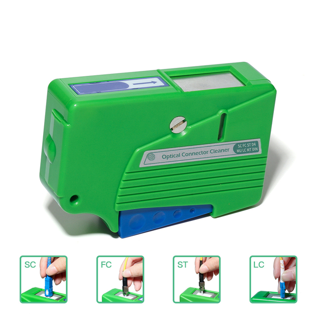 Fiber Optic Cleaner Optical Connector End Face Cleaner SC Fiber Cleaning Cassette Box