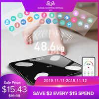 Mrosaa 26*26cm échelle de graisse corporelle intelligente imc échelle LED numérique salle de bain sans fil Balance Balance bluetooth APP Android IOS