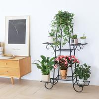 観葉植物スタンド 7 一層プランター棚ディスプレイラックコンドミニアムためパティオ、 66 × 22 × 102 センチメートル