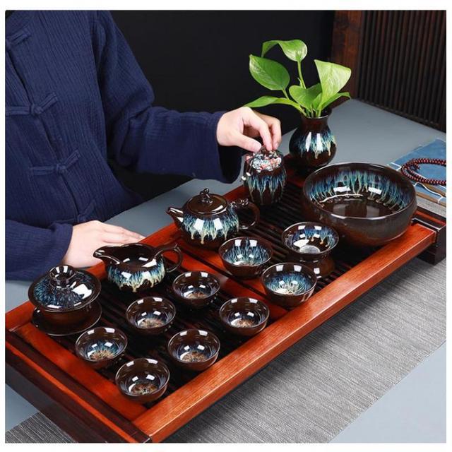 Cinese Kung Fu Insieme di Tè di Ceramica Smalto Teiera Teacup Gaiwan Porcellana Teaset Bollitori Set Attrezzatura Per Tè Articoli E Attrezzature Per Acqua, Caffè, Tè Cerimonia del Tè Cinese