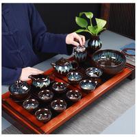 중국어 쿵푸 차 세트 세라믹 유약 주전자 찻잔 가이완 도자기 teaset 주전자 teaware 세트 drinkware 중국 차 행사 티웨어 세트    -