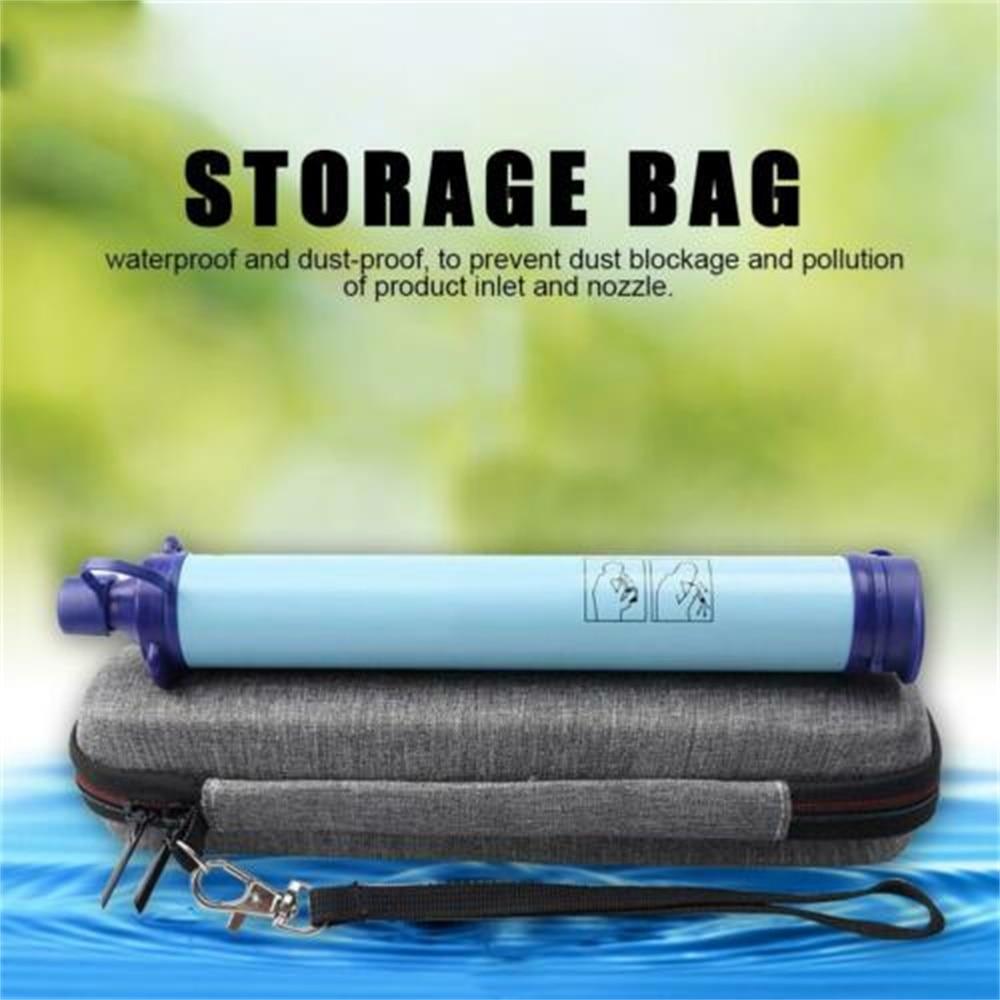Pajita portátil tetera bolsa Estuche de transporte para LifeStraw paja para vida purificador de agua