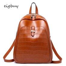 Women Shoulder Bag Crocodile Prints Large Travel Backpack Backpack Leather Backpacks For Girls Teenagers School Bag Ladies