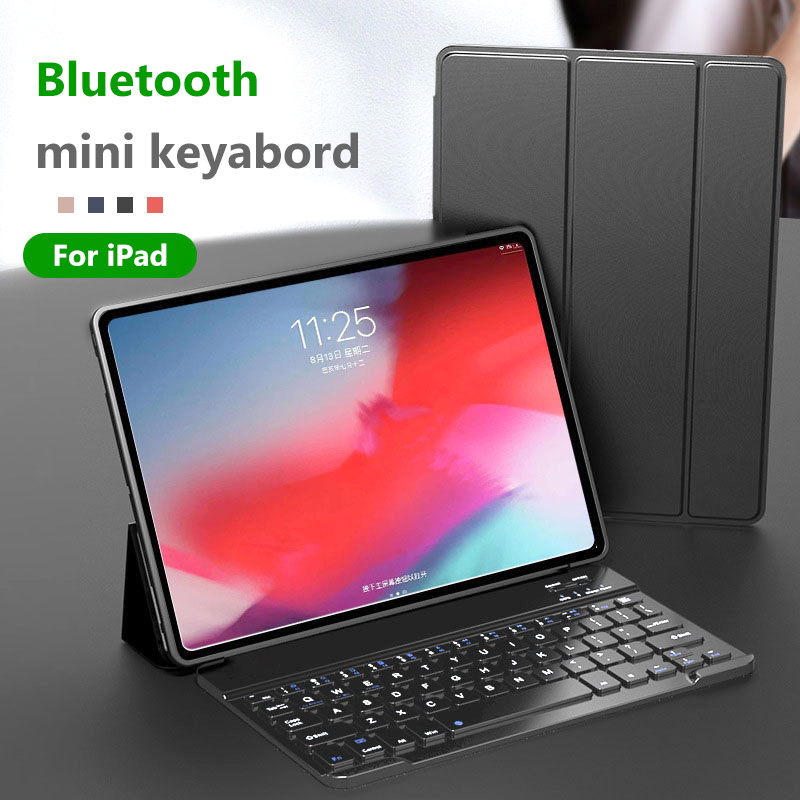 Mini Wireless Bluetooth Keyboard Case For iPad 2 3 4 Air Air2 New 2017 2018 Pro 9.7 10.5 11 inch Tablet Cover 5