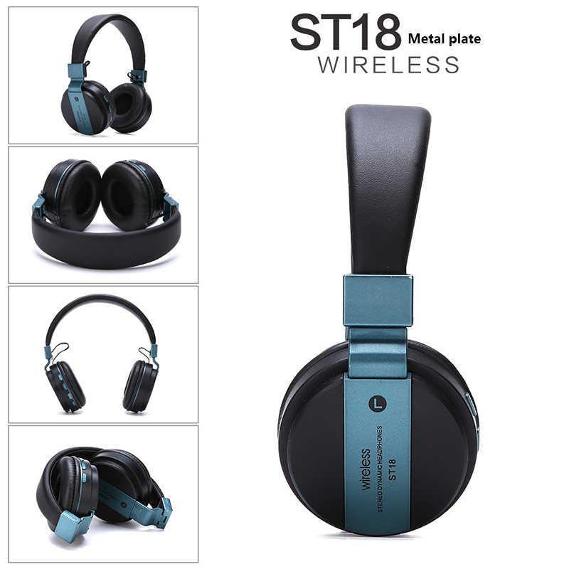 سماعة لاسلكية تعمل بالبلوتوث سماعة ST18 طبعة معدنية جديدة قابلة للطي الحركة الحد من الضوضاء سماعة مقاوم للماء