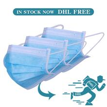 Anti-Virus Respirator Disposable Face Mask For Hair Stylists Disposable Elastic Mouth Soft Breathable Face Mask Filter DHL Free 300 pcs mask respirator filter pads disposable antivirus smog prevention for respirator filter pads