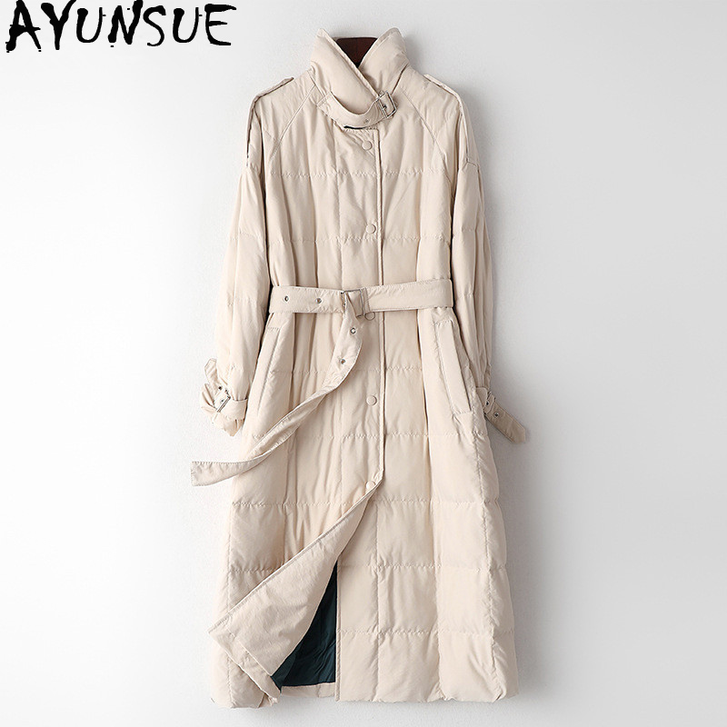 AYUNSUE Women's Down Jacket Winter Coat Women Clothes 2019 Fashion Vintage Parka Women Jacket Long Coat Manteau Femme HK001
