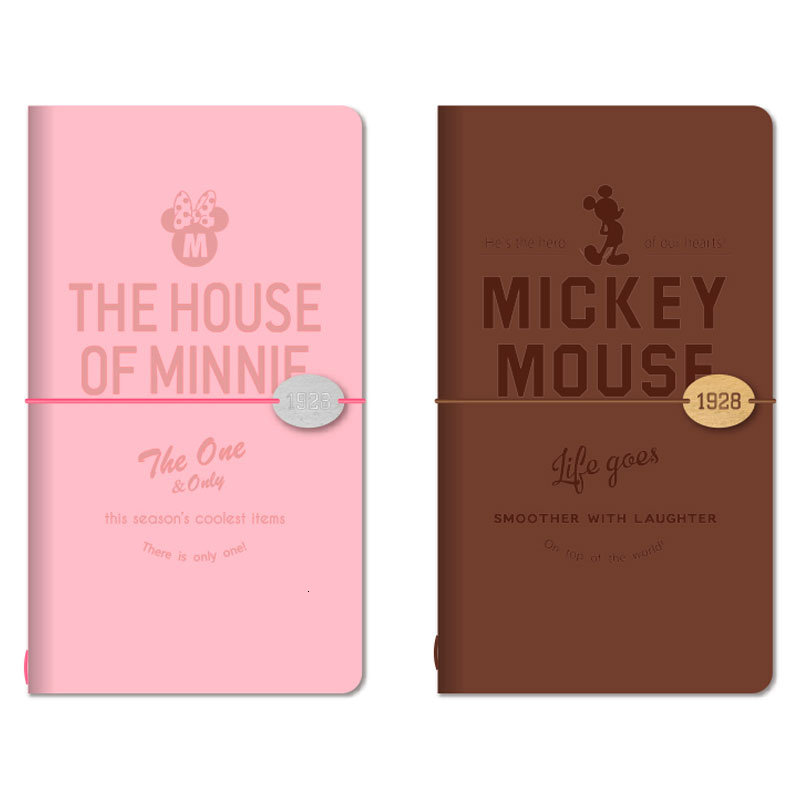 Disney Leather Travel Basis Hand Account Bandage Notepad Notebook Stationery Since Bring Loose-leaf Basis
