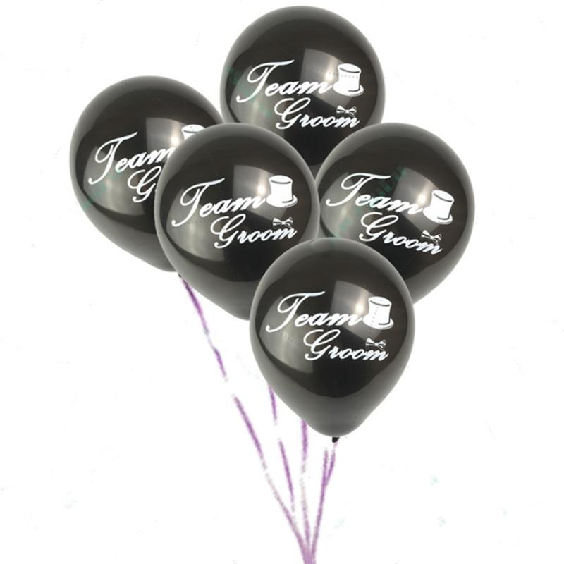 10pcs Team Groom  Balloon Bridal Shower 10 Inch Latex Hen Bachelorette Party Decoration Hen Party Decoration