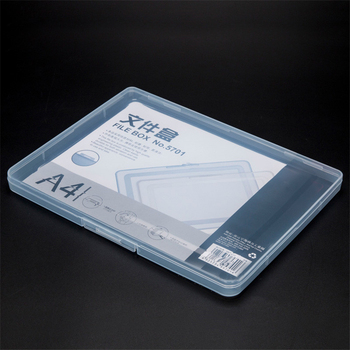 A4 Ultra-thin Portable Transparent File Box, Travel Journal Document Test Paper Storage Box, Office Archive File Storage Box