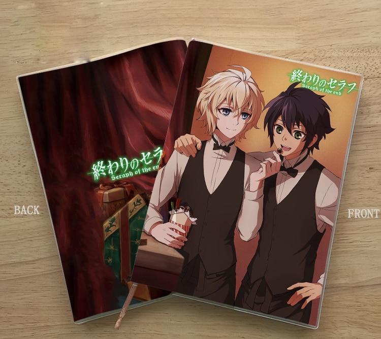 Anime Seraph Of The End Yuichiro Hyakuya Student Notebook Delicate Eye Protection Notepad Diary Memorandum Commemorate Gift