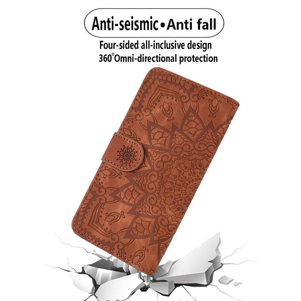 H4cbe4629eeaf40d29b842abf662735beM Matte Leather Phone Case For Samsung Galaxy A50 A70 A30 A40 A20 A10 A10E A20E A10S A20S A30S A50S Flip 3D Mandala Book Case