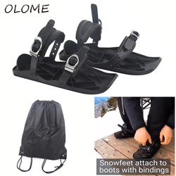 New Mini Ski Skates for Snow The Short Skiboard Snowblades High Quality Adjustable Bindings Portable Skiing Shoes