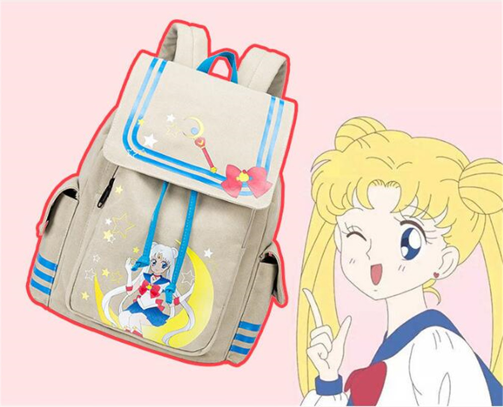 1pc Sailor Moon Luna Cat Backpack Schoolbag Lolita Girls Anime Bookbags Handbag