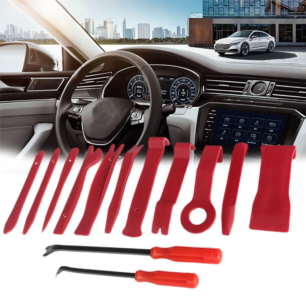 13Pcs Auto Car Radio Audio Panel Trim Door Clip Removal Installer Pry Tool Kit Door Panels And Dashboards Easily And Safely.