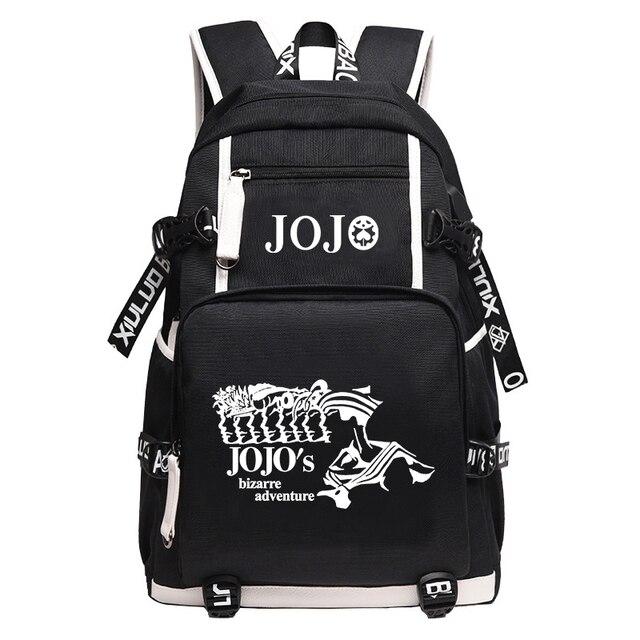 JoJo's Bizarre Adventure Large School Backpack Anime KILLER QUEEN DIO Bookbag Oxford Travel Bagpack Cartoon USB Laptop Mochilas 5