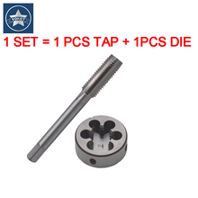 1 SET HSS Metric Right Hand Screw tap and die set M30 M32 M33 M34 X0.5 X0.75 X1 X2X3 Round dies Fine Thread Straight Flute taps