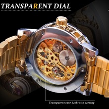 Top Luxury Brand Winners Diamond Circle Leather Belt Watch Retro Luminous Gold Hollow Automatic Mechanical Watch