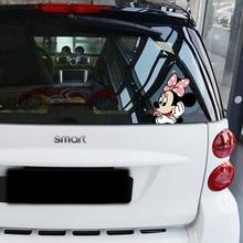Автомобильный стиль, милый мультфильм, Минни, подглядевшие, аксессуары, автомобильный хвост, наклейка и наклейка для Bmw E39 E46, Ford Focus, Vw, Skoda, Kia, peugeot