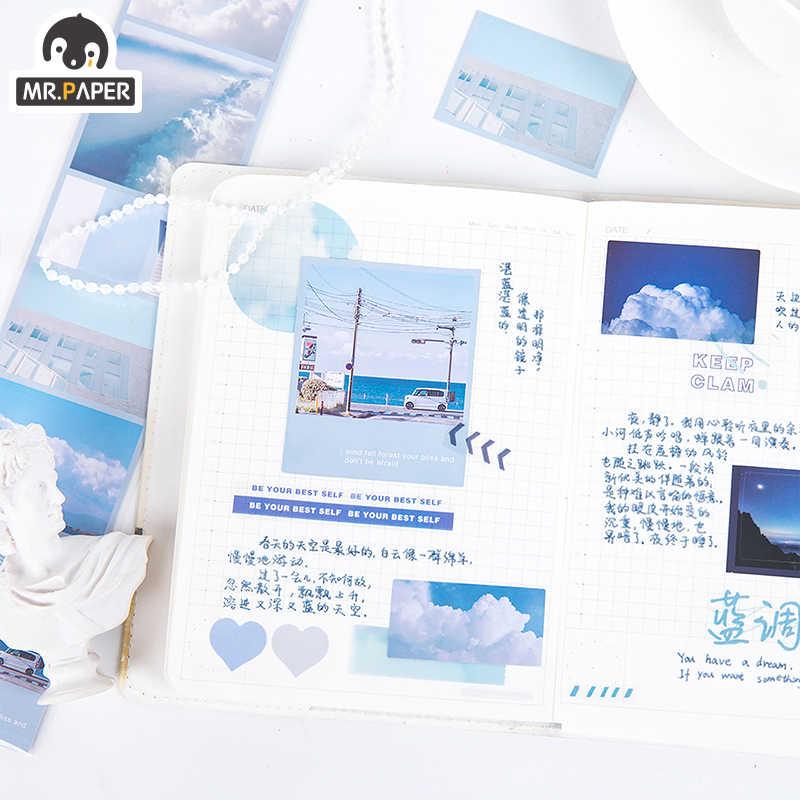 Mr. Papier 8 Designs Ästhetischen Fantasie Himmel Urlaub Zeit Speicher Kugel Journaling Deco Aufkleber Nebligen PET Material Masking Tapes