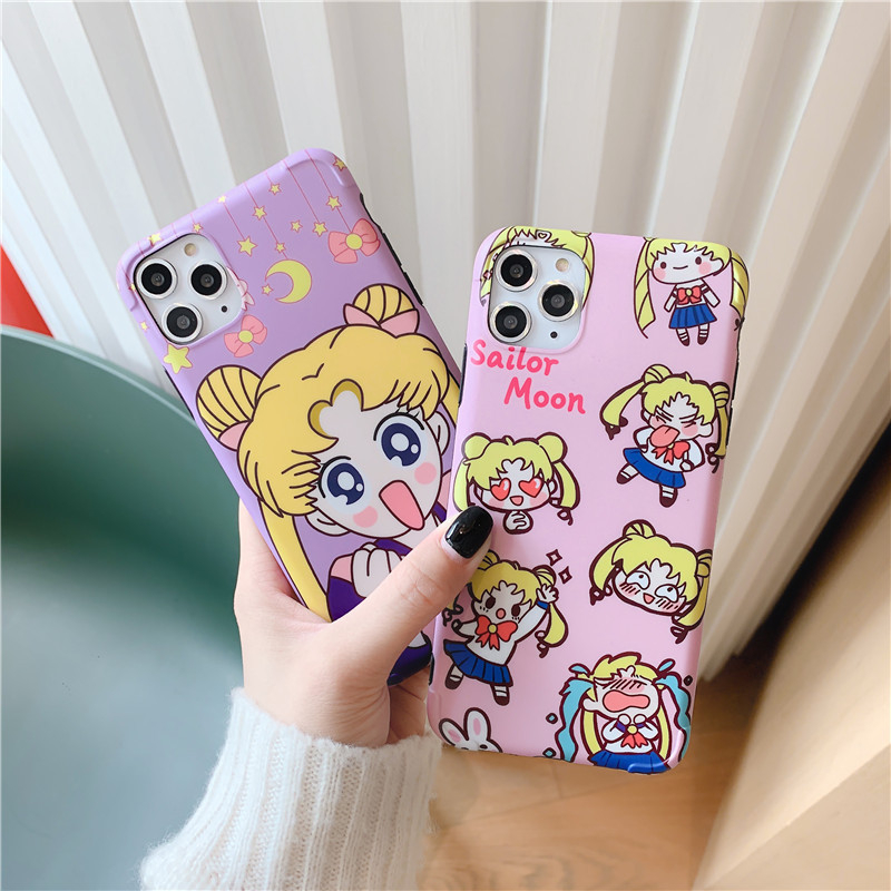 Sailor Moon Cell Phone Protective Case Phone Case Lovers Anime Adult Tsukino Usagi For IPhone X / Xs / Max / XR / 7/8 / 6s