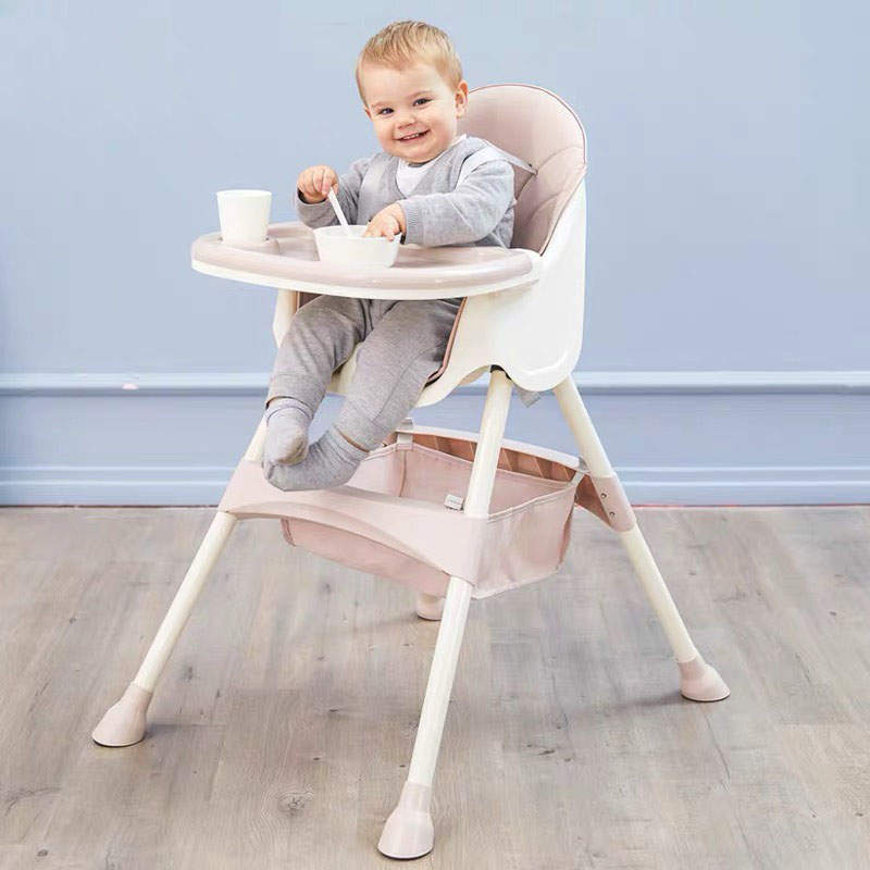 2:1 Baby High Chair Portable Baby Seat Baby Dinner Table Multifunction Adjustable Folding Chairs For Children