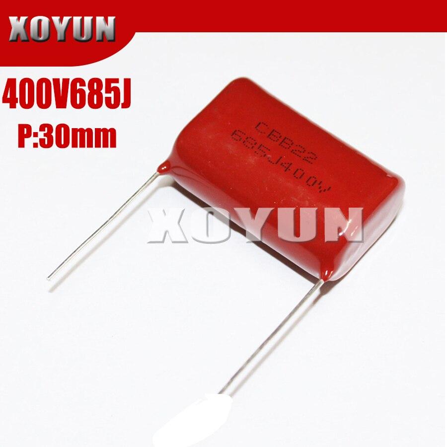 5PCS 400V685J 685J 400V 6.8UF Pitch 30MM 685J400V CBB Polypropylene Film Capacitor