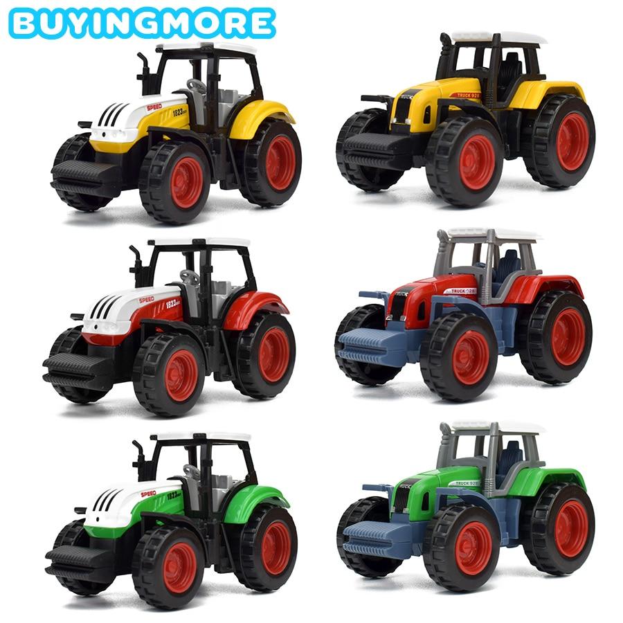 1 PCS Alloy Farm Vehicles Diecast Toys For Boys Mini Metal Model Tractor Farm Cars Engineering Van Educational Toys For Children