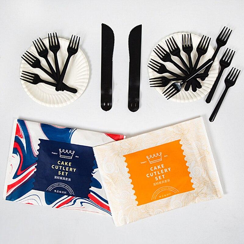 Disposable Tableware ส้อมและมีดแผ่น 1st Birthday Party Decor เด็กทารกฝักบัวปาร์ตี้ซัพพลายคริสต์มาส