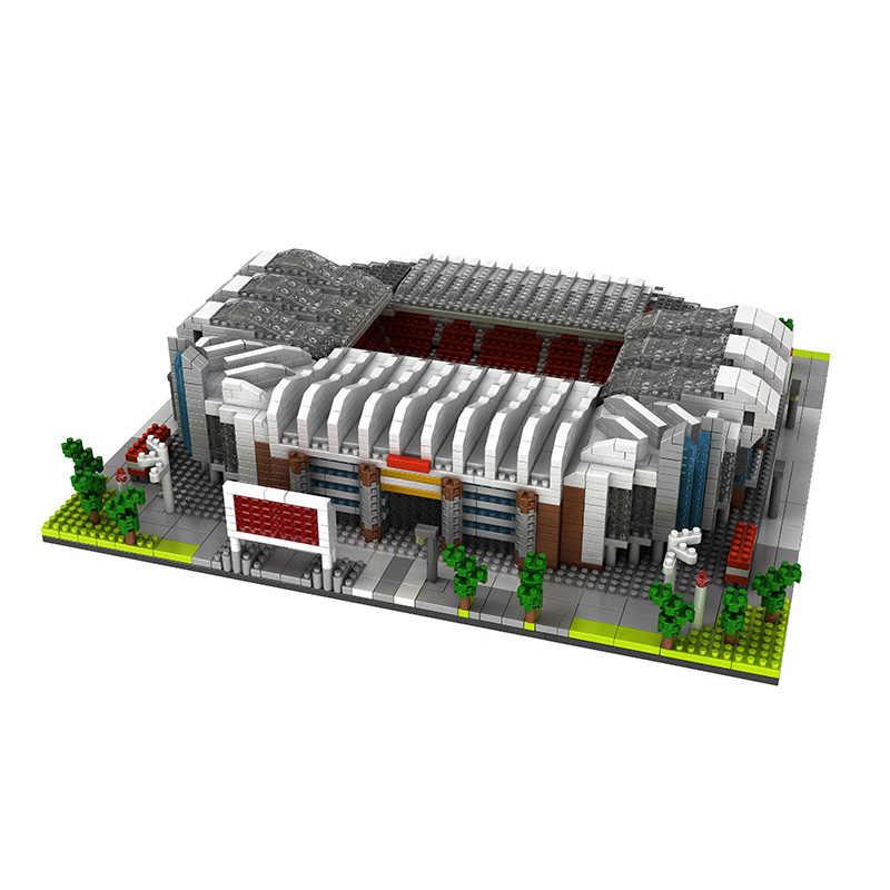 Besar Stadion Sepak Bola Lapangan Gym Model Blok Bangunan Set Tidak Kompatibel Arsitektur Spanyol Inggris Klub Sepak Bola Gymnasium