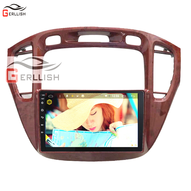 For Toyota Highlander 2000 2001 2002 2003 2004 2005 2006 2007 Android Car Multimedia GPS Player Audio Radio Stereo BT Style
