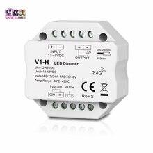 V1-H 12-48VDC 24V 36V 96W/192W/144W/192W Enkele Kleur Led dimmer Traploze Dimmen/Push Dim Controller Voor Led Strip Licht