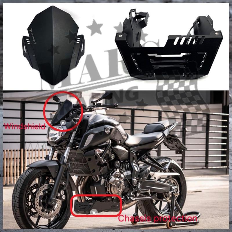 Ocamo Motorcycle CNC Windshield Windscreen For YAMAHA MT-07 MT07 FZ-07 FZ07 2013-2017 MT-07