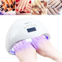 48W Nail Dryer For Nail LED UV Lamp MINI Lamp For Manicure LCD Display Drying All Gels Nail Polish Nail Art UV Light Tools