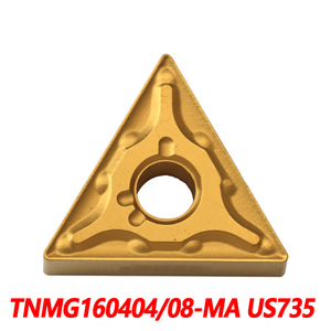 100% Original TNMG TNMG160404-MA US735 TNMG160408-MA 10pcs CNC lathe Insertion Carbide Insert Imported From Japan High Quality