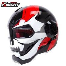 HEROBIKER motosiklet kask motosiklet tam yüz kask Moto kasko sürme Cruiser Chopper Cafe Racer Retro Capacetes