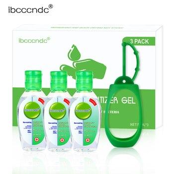 3 pcs 50ml Anti-Bacteria Hand Sanitizer Gel + 1 Silicone Sanitizer Holder No-clean Hand Gel Instant Waterless Handgel