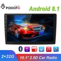 "Podofo 2 din Android 8.1 Car Stereo Radio 10.1"" HD 1080P Multimedia Video Player 2Din GPS WiFi Bluetooth Autoradio For Unversial"