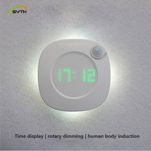 Time human body induction lamp smart night light bedroom bedside led charging desk lamp toilet bathroom lamps motion sensor led night light smart human body induction nightlight auto on off battery operated hallway pathway toilet lamps