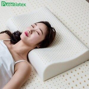 Image 1 - Purenlatex 60x40 tailândia puro látex natural travesseiro de cuidados de saúde pescoço para a coluna do pescoço travesseiro de látex protetor travesseiro ortopédico