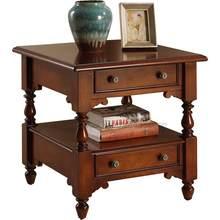 Americano de madeira maciça mesa lateral sofá mesa de canto mesa quadrada clássico europeu pequena mesa de centro sala estar telepho
