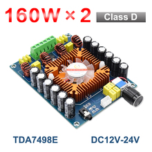 160W*2 Bluetooth 5.0 TDA7498E Audio Power Amplifier Board Class D Dual Channel Subwoofer Stereo FM Radio Home Theater Amp AUX TF