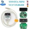 V15.00.028 для Toyota MINI VCI J2534 с FTDI FT232RL OBD OBD2 автомобильный диагностический инструмент Автомобильный сканер кабель TIS Techstream minivci