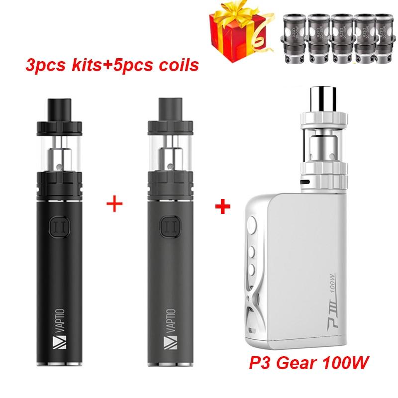 Gift Vape Pen 3000mAh Electronic Cigarette 100W Vaporizer Vaptio C2 Built In Battery 3000mah Vape MOD 2.0ml/4.0ML Atomizer Kit
