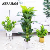 155cm Large Artificial Tree Tropical Plants Plastic Leaves Green Monstera Fake Banana Tree Indoor Plants For Home Office Decor