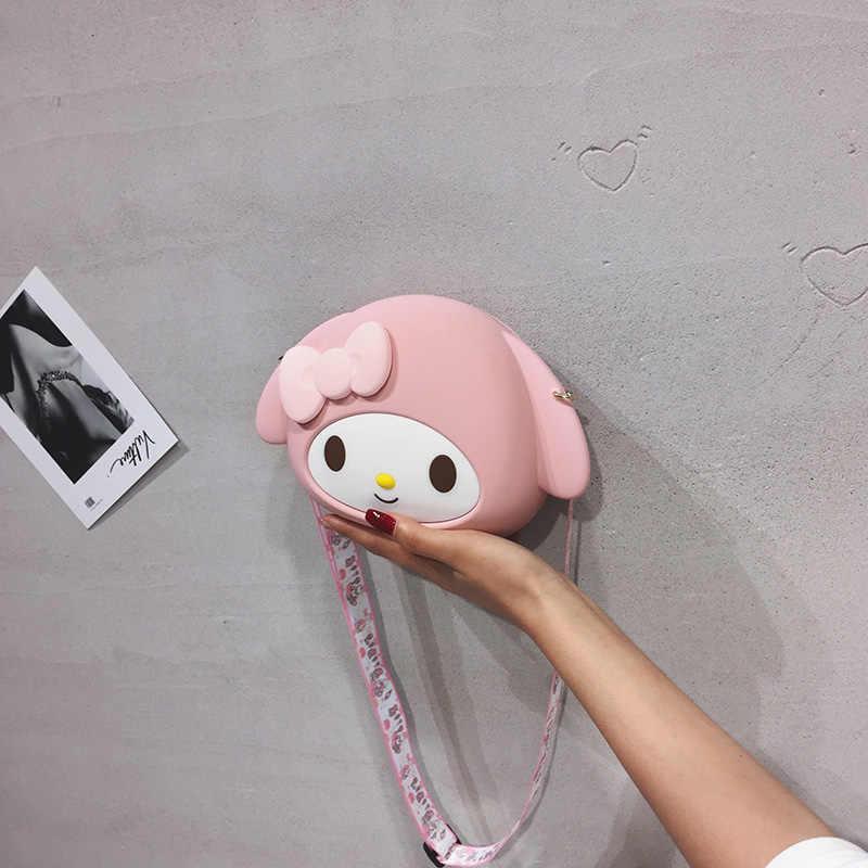 Weiche Silikagel Taschen für Frauen 2020 Cartoon Prinzessin Mädchen Schulter Umhängetaschen Damen Tragbare Kupplung Geldbörsen und Handtaschen
