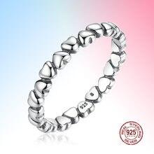 «Любовь навсегда» Сердце палец кольцо 925 пробы серебро оригинал