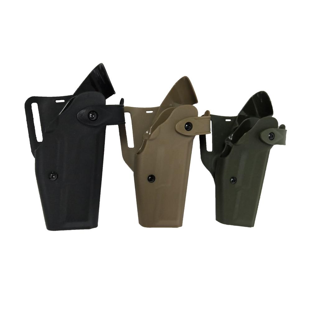 Totrait Militar Tático Arma Cinto Coldre Safarilândia Glock17 19 22 23 31 32 Airsoft Caça Tiro Mão Acce