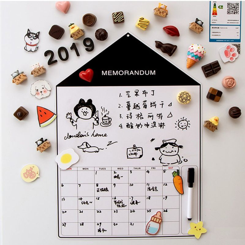 A3 Soft Magnetic Whiteboard Magnet Erase Board Drawing Refrigerator Calendar Pen AXYF