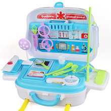 Childrens simulation doctor toy trolley case set boy girl play house injection first aid